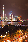 View from suite at The Peninsula Shanghai.