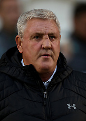 Aston Villa manager Steve Bruce during the Carabao Cup, First Round match at the Weston Homes Community Stadium, Colchester.