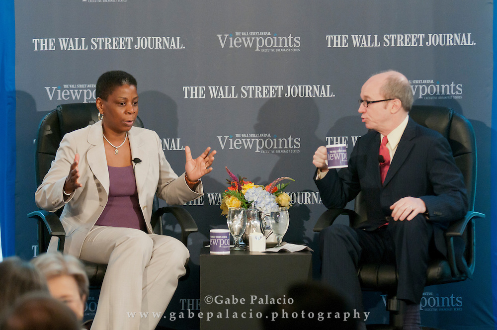 The Wall Street Journal Viewpoints Executive Breakfast Series featuring Ursula M. Burns, Chairman and CEO of Xerox Corporation, at the Bryant Park Grill in New York on June 17, 2011.  (photo by Gabe Palacio)