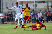 FOOTBALL - FRIENDLY GAMES 2010/2011 - RC LENS v US BOULOGNE - 10/07/2010 - PHOTO GUY JEFFROY / DPPI - ALEXANDRE CUVILLIER (BOU) / ADIL HERMACH / ERIC CHELLE (LENS)