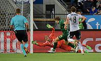 Fotball , 2. august 2017 , Qual. Champions League<br /> Rosenborg - Celtic 0-1<br /> James Forrest , Celtic  scorer på Andre Hansen , RBK