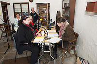 pictured at Pearse's Cottage, Teach an Phiarsaigh, in Rosmuc in Connemara during a special broadcast of RT&Eacute; Raidi&oacute; na Gaeltachta programme Adhmhaidin on Easter Monday 28 March 2016.  <br /> <br /> Patrick Pearse used the cottage as a summer house, and also as summer school for his pupils from St Enda&rsquo;s school in Dublin.  He was inspired by the people and the culture of the area, and it is said that he composed the graveside oration he gave at O&rsquo;Donovan Rossa&rsquo;s funeral in 1915 there.<br /> <br /> The broadcast was to commemorate the centenary of the Easter Rising, and also marked 30 years on air for the programme.  <br /> Photo:Andrew Downes, xposure.
