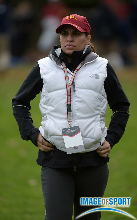 Nov 21, 2015; Louisville, KY, USA; Iowa State Cylcones womens coach Andrea McDonough attends the 2015 NCAA cross country championships at Tom Sawyer Park. Mandatory Credit: Kirby Lee-USA TODAY Sports