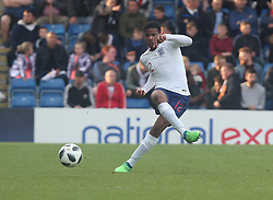 May 17, 2018 - United Kingdom - Vontae Daley-Campbell of England Under 17 .during the UEFA Under-17 Championship Semi-Final match between England U17s against Netherlands U17s at Proact Stadium,  .Chesterfield FC, England on 17 May 2018. (Credit Image: © Kieran Galvin/NurPhoto via ZUMA Press)