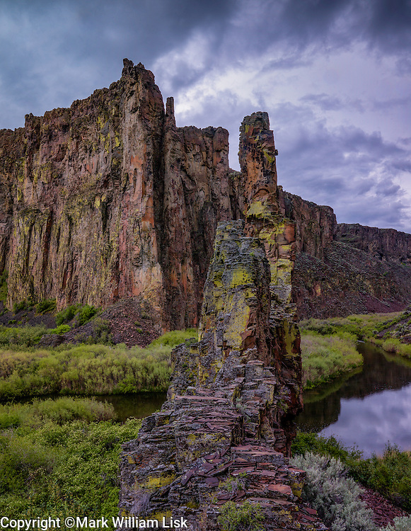 The Tules, signify the iconic landscape of the EF of the Owyhee River.