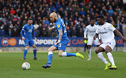 Marcus Maddison of Peterborough United in action with Bright Enobakhare of Coventry City - Mandatory by-line: Joe Dent/JMP - 16/03/2019 - FOOTBALL - ABAX Stadium - Peterborough, England - Peterborough United v Coventry City - Sky Bet League One