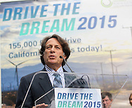Steve Center, head of American Honda's Office of Environmental Business Development, speaks in Drive the Dream 2015 event at Creative Artists Agency in Los Angeles October 15, 2015.  (Photo by Ringo Chiu/PHOTOFORMULA.com)