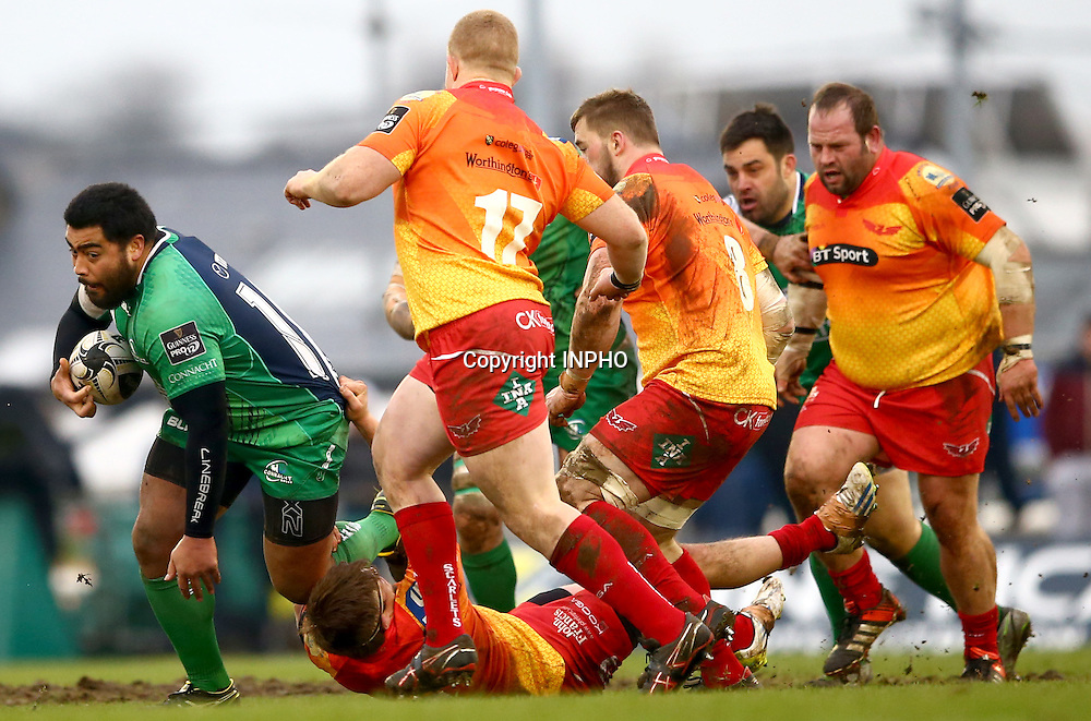 Guinness PRO12, The Sportsground, Galway 30/1/2016<br /> Connacht vs Scarlets<br /> Connacht's Rodney Ah You <br /> Mandatory Credit &copy;INPHO/James Crombie