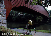 "Bicyclist at ""Red Bridge,"" Berks Co., PA"