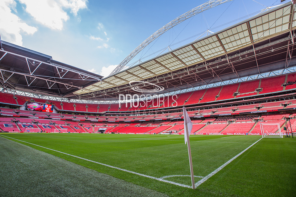 Wembley Stadium during the UEFA European 2016 Qualifying match between England and Switzerland at Wembley Stadium, London, England on 8 September 2015. Photo by Shane Healey.