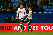 Bolton Wanderers forward Gary Madine  is substituted after suffering a cut head during the Sky Bet Championship match between Bolton Wanderers and Milton Keynes Dons at the Macron Stadium, Bolton, England on 23 January 2016. Photo by Simon Davies.