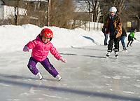 Laconia Parks and Rec skating party at Memorial Park Friday, February 28, 2014.    Karen Bobotas/for the Laconia Daily Sun