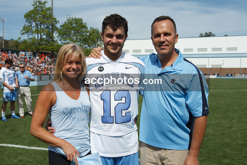 CHAPEL HILL, NC - APRIL 11: Chad Tutton #12 of the North Carolina Tar Heels plays against the Syracuse Orange on April 11, 2015 at Fetzer Field in Chapel Hill, North Carolina. North Carolina won 17-15. (Photo by Peyton Williams/US Lacrosse/Getty Images) *** Local Caption *** Chad Tutton