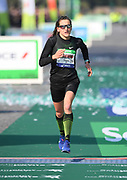 Clemence Calvin aka Clémence Calvin (FRA) places third in the women's race in 2:23:41 the 43rd Paris Marathon in IAAF Gold Label road race in Paris, Sunday, April 14, 2019. (Jiro Mochizuki/Image of Sport)