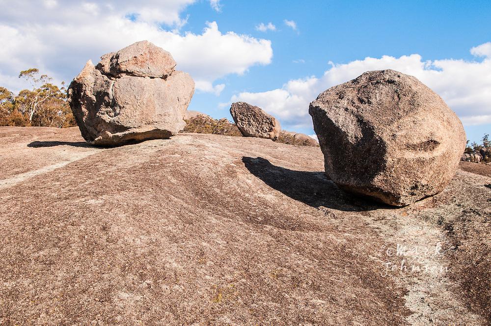Granite boulders on the Mt. Norman track, Girraween National Park, Queensland, Australia