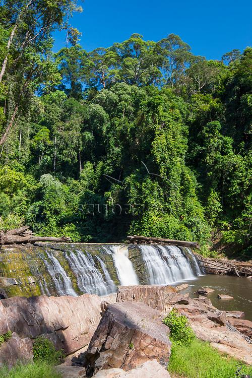 The spectacular Imbak Falls, Imbak Canyon Conservation Area, Sabah, Malaysia, Borneo, South East Asia.