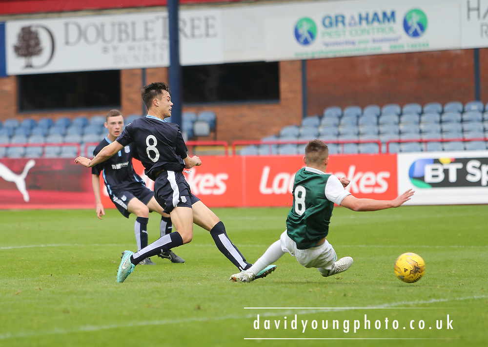 Dundee&rsquo;s Jesse Curran scores his side's third goal - Dundee v Hibs - Little Big Shot Scottish FA Youth Cup<br /> <br /> <br />  - &copy; David Young - www.davidyoungphoto.co.uk - email: davidyoungphoto@gmail.com
