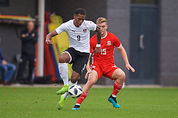 NEWPORT, WALES - Monday, October 14, 2019: Austria's Suliman Mustapha during an Under-19's International Friendly match between Wales and Austria at Dragon Park. (Pic by David Rawcliffe/Propaganda)