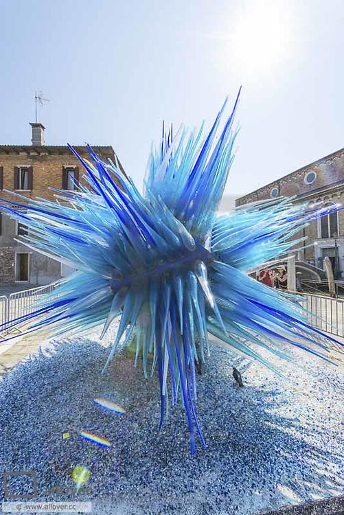 Simone Cenedese, open air glass installation, Murano, glass island, Venedig, Venice, Venetia, Italy