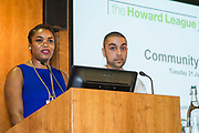 Danielle, Young advisor, The Howard league participant project speaking at The Howard League for Penal reform's Community Awards 2015 The Kings Fund, London, UK. All use must be credited © prisonimage.org