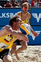 Sebastian Dollinger .and Stefan Windscheif of Germany at A1 Beach Volleyball Grand Slam tournament of Swatch FIVB World Tour 2011, on August 3, 2011 in Klagenfurt, Austria. (Photo by Matic Klansek Velej / Sportida)