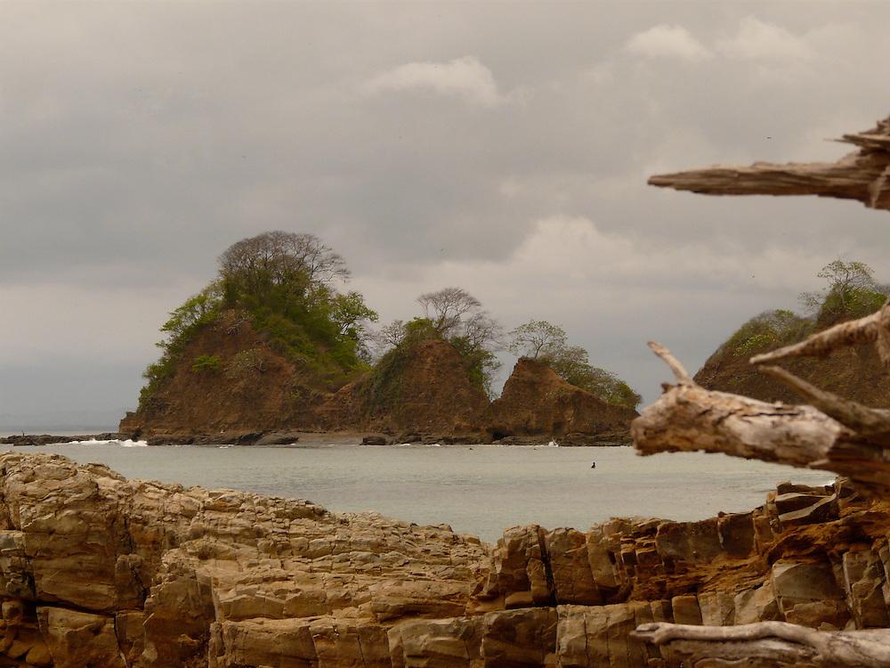 EN&gt; The hills appear to float in this view of a beach near Carara National Park in Costa Rica | <br /> SP&gt; Playa cerca del parque nacional de Carara en Costa Rica