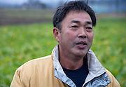 Mitsuo Sugawara talks at his farm in Higashi-Matsushima, Miyagi Prefecture, Japan on 30 Nov. 2011.Photographer: Robert Gilhooly