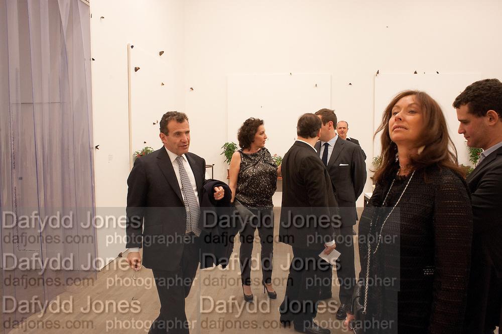 POJU ZABLUDOWICZ;ANITA ZABLUDOWICZ, Damien Hirst, Tate Modern: dinner. 2 April 2012.
