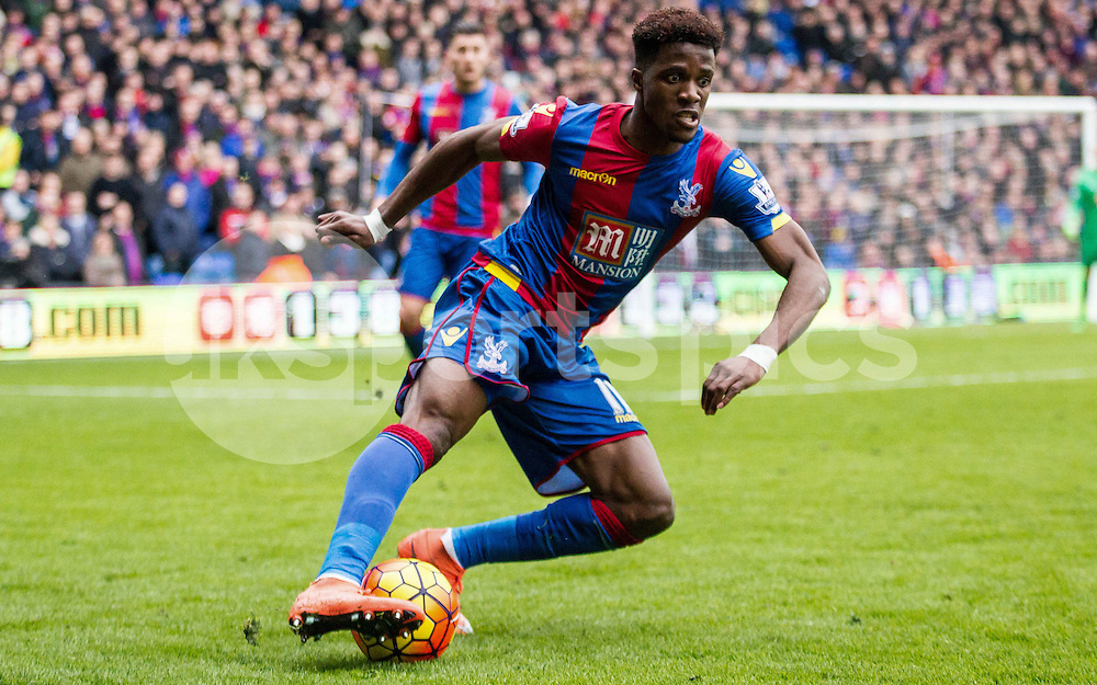 WILFRIED ZAHA asked Crystal Palace to leave.<br /> <br /> Wilfred Zaha of Crystal Palace during the Barclays Premier League match between Crystal Palace and Liverpool at Selhurst Park, London, England on 6 March 2016. Photo by Steve Ball.