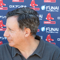February 19, 2011; Fort Myers, FL, USA; Boston Red Sox owner Tom Werner during spring training at the Player Development Complex.  Mandatory Credit: Derick E. Hingle