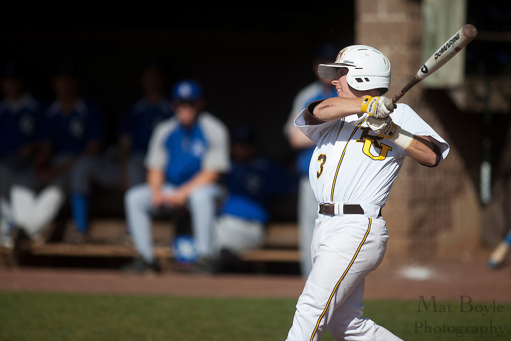 Rowan University Senior Infielder Captain Brandon Winkler (3); Rowan University Baseball hosts Elizabethtown College on Tuesday April 17, 2012 in Glassboro, NJ. (photo / Mat Boyle)