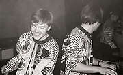 808 state members performing live, Manchester, 1989.