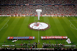 27.07.2011, Allianz Arena, Muenchen, GER, Audi Cup 2011, Finale,  FC Barcelona vs FC Bayern , im Bild Uebersicht von oben // during the Audi Cup 2011,  FC Barcelona vs FC Bayern  , on 2011/07/27, Allianz Arena, Munich, Germany, EXPA Pictures © 2011, PhotoCredit: EXPA/ nph/  Straubmeier       ****** out of GER / CRO  / BEL ******