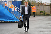 Bristol Rovers Rory Gaffney (30) arriving at the ground before the EFL Sky Bet League 1 match between Bristol Rovers and Doncaster Rovers at the Memorial Stadium, Bristol, England on 23 December 2017. Photo by Gary Learmonth.