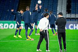 Zlatko Zahovic and Ante Simundza, head coach of Maribor during practice session of NK Maribor 1 day before UEFA Champions League 2014/15 Match between FC Chelsea and NK Maribor, SLO, on October 20, 2014 in Stamford Bridge Stadium, London, Great Britain. Photo by Vid Ponikvar / Sportida.com