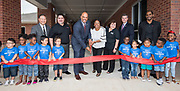 Harris County Department of Education Superintendent James Colbert and Head Start Director Venitia Peacock cut a ribbon during a dedication ceremony for the new Baytown Head Start and Early Head Start facility, May 23, 2019.