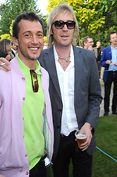 Left to right, VISCOUNT MACMILLAN and actor RHYS IFANS at a party at the Serpentine Gallery, Kensington Gardens, London to unveil their summer Pavilion designed by Frank Gehry on 20th July 2008.<br /> <br /> NON EXCLUSIVE - WORLD RIGHTS