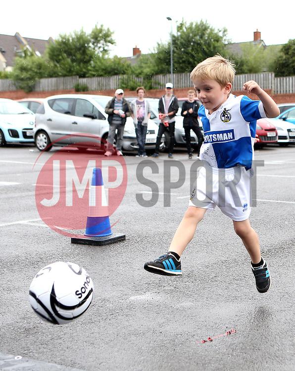 Kids play football at the Bristol Rovers open day - Mandatory by-line: Robbie Stephenson/JMP - 01/08/2016 - FOOTBALL - Memorial Stadium - Bristol, England - Bristol Rovers Open Day