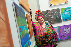 Kids Company Director Camila Batmanghelidjh presents a display of artworks created by children and young people who have been supported by the Kids Company at the Royal Academy of Arts, London, United Kingdom. Friday, 13th December 2013. Picture by Daniel Leal-Olivas / i-Images