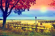 Rainbow Colored Wayzata Dock