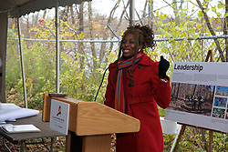 With a ceremonial singing of the lease Philadelphia Outward Bound School and Audubon Pennsylvania kick of the Discovery Center project in the East Fairmount Park section of the city. (Bas Slabbers/for Philadelphia Outward Bound School)