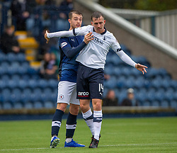 Raith Rovers Brad Spencer and Falkirk's Louis Longridge. Raith Rovers 2 v 2 Falkirk, Scottish Football League Division One played 5/9/2019 at Stark's Park, Kirkcaldy.