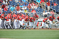 Ole Miss takes the field vs. Texas Tech at T.D. Ameritrade Park in the College World Series in Omaha, Neb. on Tuesday, June 17, 2014. Ole Miss won 2-1.
