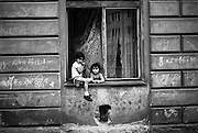 Two children at Prokopova street.