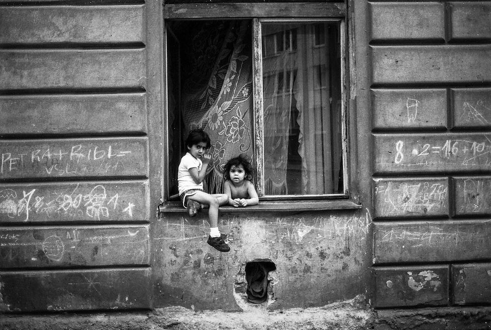 Two children at Prokopova street.