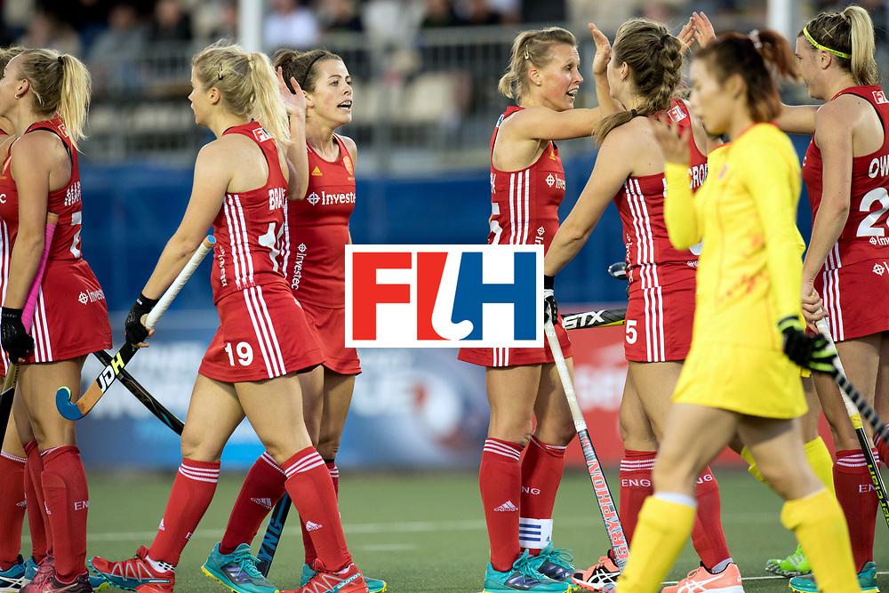 AUCKLAND - Sentinel Hockey World League final women<br /> Match id 10302<br /> ENG v China<br /> Foto:  goal celebratio<br /> WORLDSPORTPICS COPYRIGHT FRANK UIJLENBROEK