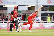 Lancashires Danny Lamb during the Vitality T20 Blast North Group match between Lancashire Lightning and Durham Jets at the Emirates, Old Trafford, Manchester, United Kingdom on 7 August 2018.