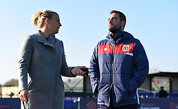 Tanya Oxtoby manager of Bristol City Women chats with her new assistant coach Marco Chiavetta - Mandatory by-line: Paul Knight/JMP - 17/11/2018 - FOOTBALL - Stoke Gifford Stadium - Bristol, England - Bristol City Women v Liverpool Women - FA Women's Super League 1