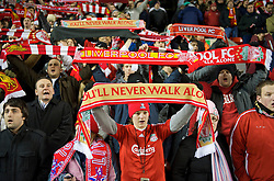 LIVERPOOL, ENGLAND - Monday, December 1, 2008: Liverpool's supporters during the Premiership match at Anfield. (Photo by David Rawcliffe/Propaganda)