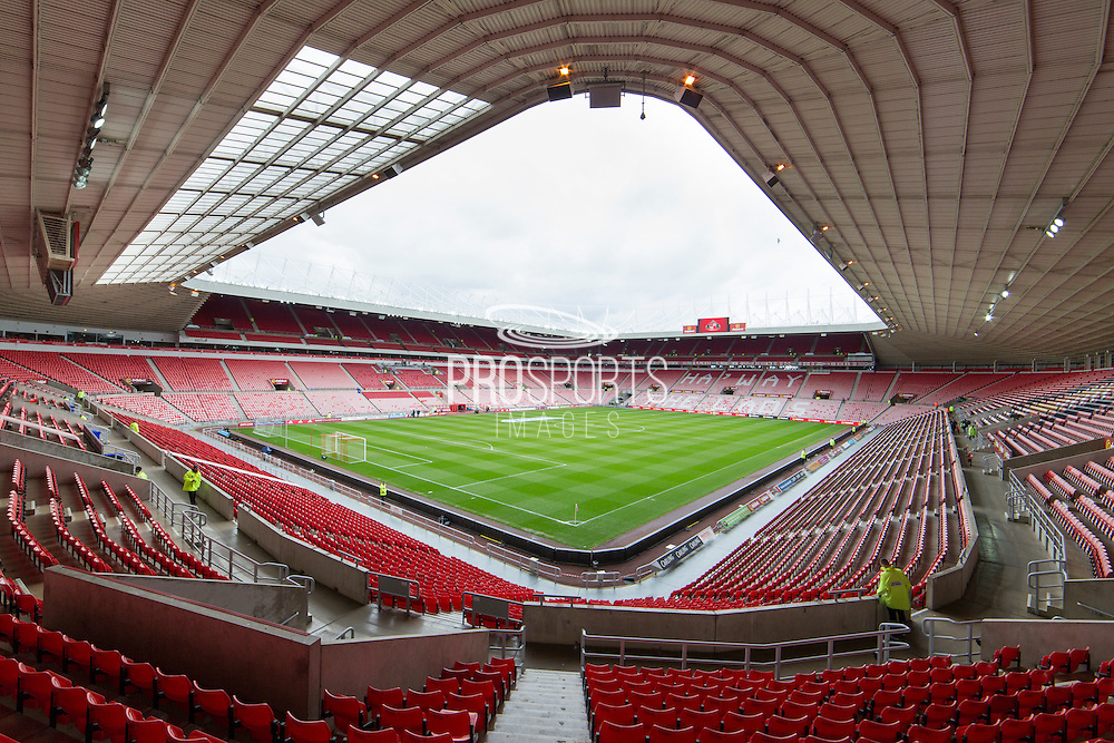 General photo of the stadium before the Barclays Premier League match between Sunderland and Arsenal at the Stadium Of Light, Sunderland, England on 24 April 2016. Photo by George Ledger.
